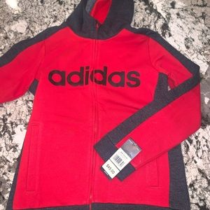 New!! Adidas HOODIE ZIP Sweatshirt Medium M